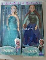 2pcs Frozen Figure Play Set princess Elsa Anna Classic Toys Frozen Toys Dolls retail in box