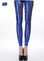 Fashion novelty all-match round hole pencil pants repair 79312 ankle length legging