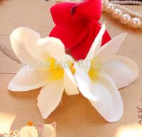 "100pcs 6.8cm/2.64"" Artificial Silk Flower Heads Frangipani Hawaii Plumeria Flower DIY Headware Hairclips Jewelry"