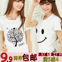 2014 spring and summer short-sleeve t-shirt female women's T-shirt short-sleeve shirt half female basic shirt summer*