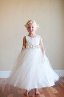 Ivory Flower Girl Dress white flower girl dress tulle flower girl dress first communion dress