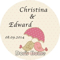 Free Shipping New Customize Adhesive Sticker / Label for Wedding / Baby Shower 2.5cm,X220