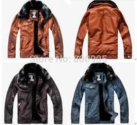 retail kids winter coat fur collar boy vintage jackets coats , children leather jacket  zipper outerwear for boys