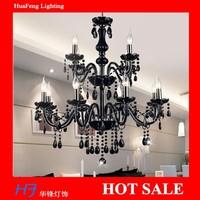 BLACK  Crystal chandelier8+4 lights lamps  chandeliers lamps crystal chandelier lustre lamp led lamp