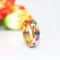 Newest Brand Product Glazing colors Enamel Jewelry Ring,1pcs/pack
