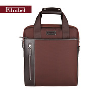 Brand Filmbel Nylon casual Briefcase for men messenger bag real cow leather shoulder bag laptop bag portfolio  FP0005-2