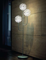 Flowers dance floor lamp