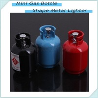5pcs Portable Creative Mini Gas Bottle Shape Metal Lighter Refillable Butane Gas Cigarette Lighters For Christmas Giftstmas Gift