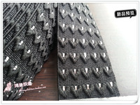 Good quality elastic band, webbing, 5cm width,black color with silver decoration,6yards/lot