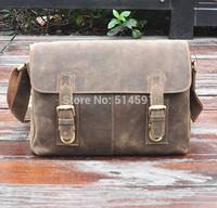 2014 New Arrival Factory Price Promotion Vintage Crazy Horse Leather Casual Messenger Bag Genuine Leather Men Shoulder Bags