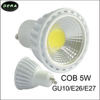 5PCS/set 5W GU10 AC85~265V white/warm white COB LED Dimmable Bulb Light Spot Light LED Light Lamp Bridgelux