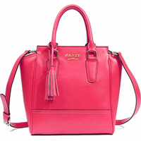Free Shipping ( Rose ) split cow leather   Concise Series  messenger bag  Tote Bag   handbag