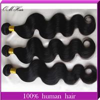 "OM Hair: Bella Dream Hair Weaves Unprocessed Malaysian Virgin Hair Body Wave Remy Hair Extension 4 Bundles Mix Length8""-28""  #1b"