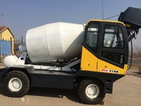 portable off road concrete mixer truck with self loading fuction and Cummins engine/moble concrete mixer with loader scale