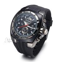 2014 Brand New Casual Collection Luxury A Class Plating-Gold Steel Bezel Big Case Men Sport Quartz WristWatch W009