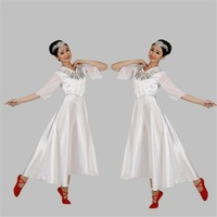 2014 New Fashion Lady modern Dance Clothing Dance Costumes Theatrical Costume Dig Swing Dress.