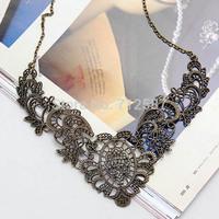 Hot European Retro Flower Chain Choker Stylish Collar Necklace #5637