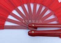 free shipping / taiji fans makes a loud crisp noise when opened plastic-bone single side martial art fans