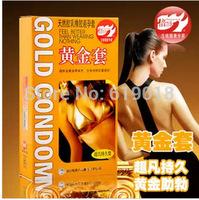 Refreshin golden ! gold sets lasting pleasure up more delay condoms condom 10pcs/box ,sex toys for adults