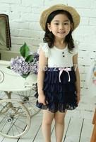 2014 Summer Girls Pleated Chiffon Dress Children Clothes For Kids Baby Girl Summer Tutu Dresses