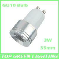 Small 35mm Diameter 3W LED GU10 Spot Light Bulb EU USA 110V 220V 230V 240V Bombilla GU10 LED Lampara 3W Mini GU10 LED Lamp
