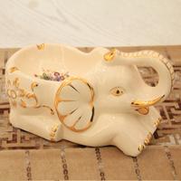 New arrival ceramic elephant fashion handmade gold ashtray fashion personalized ashtray