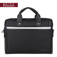 Brand Filmbel Nylon casual Briefcase for men messenger bag real cow leather shoulder bag laptop bag portfolio  FP0009-1