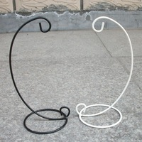 23cm mousse iron mount black and white candle holder
