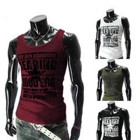 Fashion New 2014 Men Cotton Casual O-Neck Sleeveless Tank Tops Men Clothing Undershirt  MCVE8688