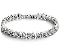 925 sterling silver bracelet fashion wild female Roman jewelry female models Crystal Jewelry Free Shipping