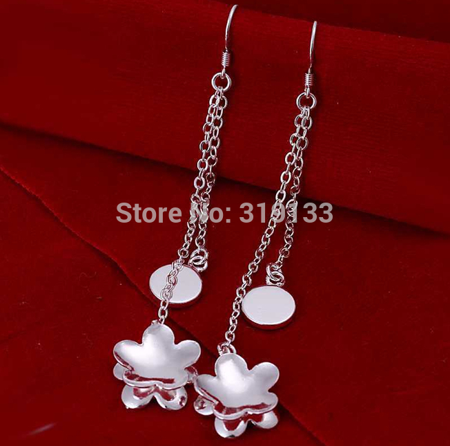 Free shipping 925 sterling silver jewelry earring fine fashion nice club wholesale and retail(China (Mainland))