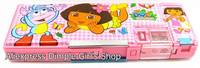 1pcs Kawaii Cute Cartoon Animal Plastic Pen Box Dora The Explorer Pencil Case For Girl Baby Birthday Gift Idea Children's Day