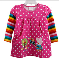 Peppa pig casual T-shirt girl's fashion T-shirt clothing autumn winter hot selling baby clothing T-shirts tunic children