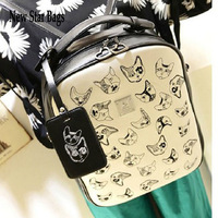 2014 hot selling Backpack vintage preppy style small fresh all-match embroidery cat fashion printing school female bag GF8E