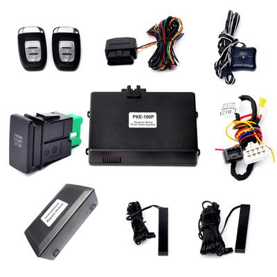 car alarm keyless push button start system,remote start/stop car engine,keyless go lock or unlock car door automatically(China (Mainland))