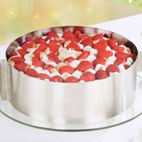 1PC Stainless Steel Size Adjustable Circle Mousse Ring Retractable Cake Mould Mold Baking Tool Set Bakeware 16-32cm 670630