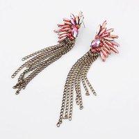 Latest Style Hot Sale Elegant Shiny  Retro Tassel Earrings Wholesale Nice Gift For Women Girl# 92510