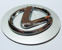1 set (4 PCS) 60mm Silver 3D Car Motor Wheel Emblem Sticker Badges Aluminum Sheet For LEXUS