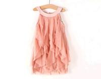 Free shipping 2014  New summer girls Yarn dress children's clothing wholesale trade girls lot