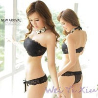 2014 New Arrival Hot Sale Women Sexy Lace Push Up Strapless Chest Wrap Set Four Hook-and-eye Cute Bra Set