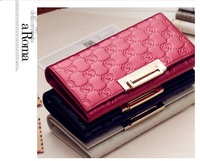 Free Shipping + 2014 Ladies leather wallet women wallet in the long section / wallet GZ03