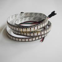 5M,New 1M Black PCB WS2812B Digital RGB LED Strip Light 144 Pixel LEDs 5050 RGB SMD WS2811 IC WS2812B IC Water Flash Color DC5V