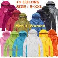 2014 Brand Summer Women+Men Unisex Waterproof Windproof Jacket  Camping New Style Fashion Coats Quick-Drying Windbreak Coats