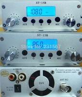 Hot sales! 15 watt pll FM transmitter FMU SER ST-15B with 86MHz-108MHz-100khz