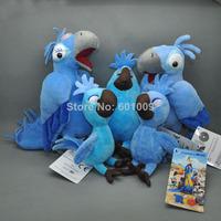 Free Shipping New 5 pcs Rio Family BLU JEWEL BABY Savannah Jasmine Bobby Plush Doll Macaw Parrot