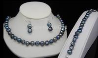 Jewelry 00693 Beautiful baroque pearl necklaces&bracelets&earrings