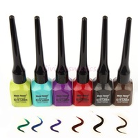 2014 New Arrival Liquid Eyeliner Waterproof 3D 6 Colors Fast Dry