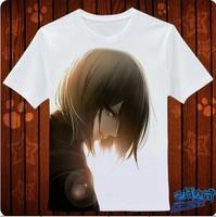 Hot New Attack on Titan Mikasa Ackerman Anime Products T-shirt Personality customization High quality T-shirt Free Shipping