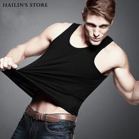 2014 New Arrival High Quality Men's Tank Tops Tight-Fitting Cotton Undershirt Men Sports Vest ST-605