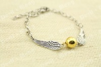 1pcs Silver Tone The Golden Snitch Bracelet harry potter jewelry gift -in Silver